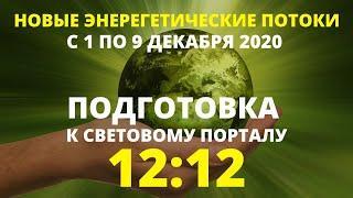 ЭНЕРГИИ ДЕКАБРЯ И ПЕРЕХОД. ПОДГОТОВКА К МОЩНОМУ ПОРТАЛУ 12:12. НОВЫЕ ПОТОКИ С 1 ПО 9 ДЕКАБРЯ 2020.